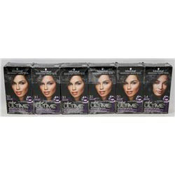 BUNDLE OF ASSORTED BLACK COLOR ULTIME HAIR COLOUR