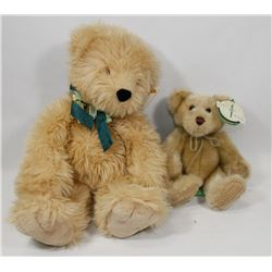 2 COLLECTOR TEDDY BEARS WITH TAGS