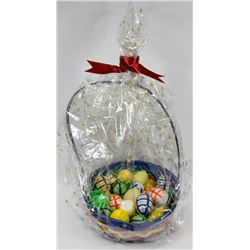 BASKET OF EASTER CANDLE EGGS