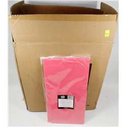 CASE OF 30 HOT PINK RECTANGLE TISSUE TOP TABLE-