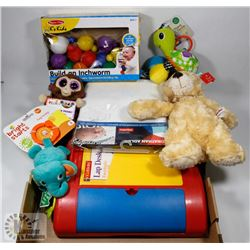 BOX OF MISC KIDS & BABY ITEMS