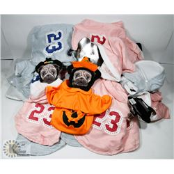 BOX OF NEW DOG OUTFITS