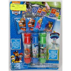NEW PAW PATROL SIDEWALK CHALK GAME SET