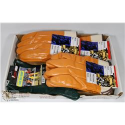 4 NEW PAIR OF PVC COATED LINED GLOVES