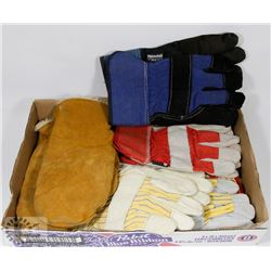 FLAT OF MISC LEATHER WORK GLOVES