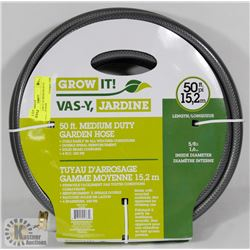 NEW GROW IT 50' MEDIUM DUTY GARDEN HOSE