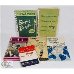 COLLECTION OF 1950'S RELIGIOUS SONG BOOKS