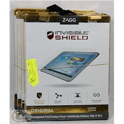 LOT OF 6 ZAGG INVISIBLE SHIELD SAMSUNG GALAXY