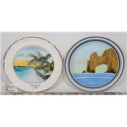 LOT OF TWO HAND PAINTED DECORATIVE PLATES