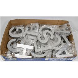 "FLAT OF 4"" STAINLESS BLOCK LETTERS WITH STICKY"