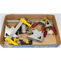 FLAT OF ASSORTED CLAMPS