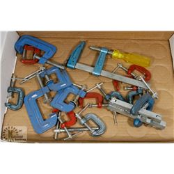 FLAT OF ASSORTED C-CLAMPS