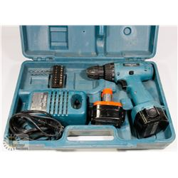 MAKTEC 12 VOLT CORDLESS DRILL, COMES WITH CHARGER