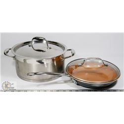 GOTHAM STEEL FRY PAN WITH A LAGOSTINA STOCK POT