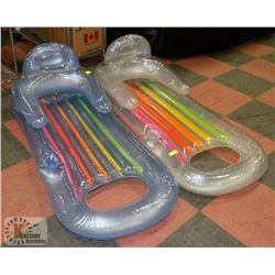 SET OF 2 CLEAR MULTI-COLOUR POOL