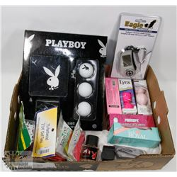 NEW! PLAYBOY FLAT GOLF ACCESSORY KIT