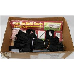 BOX W/AWNING HOLD-DOWN STRAP KIT - FITS