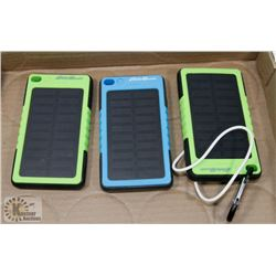 LOT OF 3 EDDIE BAUER SOLAR POWER BATTERY CHARGERS