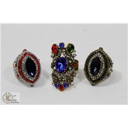 LOT OF 3 GYPSY RINGS
