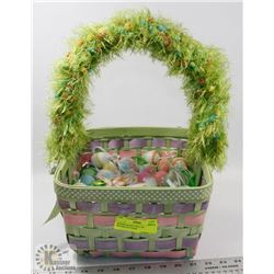 EASTER BASKET FULL OF DECORATIVE EGGS