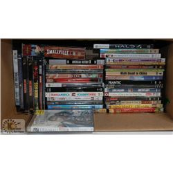 BOX OF ABOUT 50 DVDS INCLUDING, LA CONFIDENTIAL,