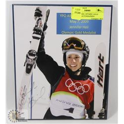 JENNIFER HEIL OLYMPIC GOLD MEDALIST AUTOGRAPHED