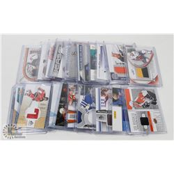 LOT OF 22 JERSEY HOCKEY CARDS - ASST SETS & YEARS.