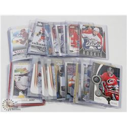 LOT OF 26 ROOKIE HOCKEY CARDS - ASST SETS & YEARS.