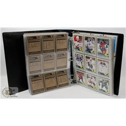 BINDER OF OVER 550 OPEECHEE HOCKEY CARDS 2012-13.