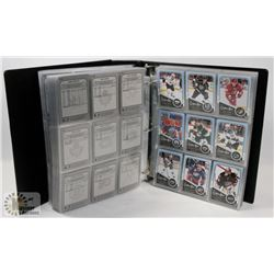 BINDER OF OVER 750 OPEECHEE HOCKEY CARDS 2011-12.