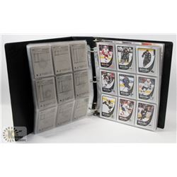 BINDER OF OVER 650 OPEECHEE HOCKEY CARDS 2010-11.