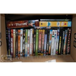 BOX OF OVER 40 DVD'S INCLUDING FAMILY GUY SEASONS