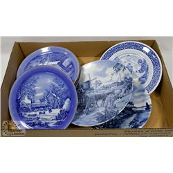 LOT OF VINTAGE  DUTCH BLUE  COLLECTIBLES PLATES