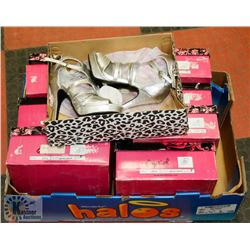 FLAT OF ASSORTED NEW LADIES HIGH HEEL SHOES