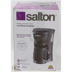 NEW SALTON SPACE SAVING 1 CUP COFFEEMAKER