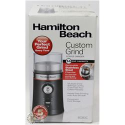 NEW HAMILTON BEACH STAINLESS STEEL COFFEE GRINDER