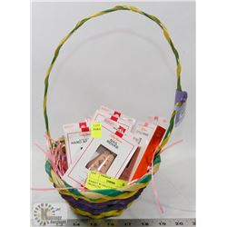 BASKET W/ SALLY HANSEN NAIL PRODUCTS.