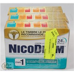 3 PACKS OF NICODERM STEP 1 PATCHES.