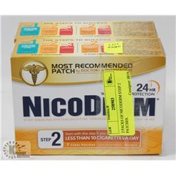 2 PACKS OF NICODERM STEP 2 PATCHES.