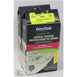 LOT OF 2 DENTEK COMFORT FIT DENTAL GUARDS