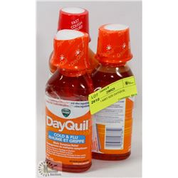 LOT OF 3 ASST SIZE DAYQUIL