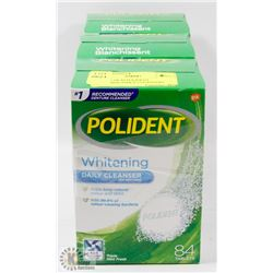 3 PACKS OF 84 POLIDENT WHITENING DAILY CLEANSERS.