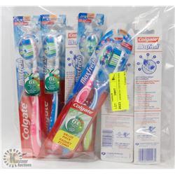 BAG OF ASSORTED TOOTH BRUSHES