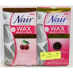 2 PACKS OF NAIR LEG AND BODY WAX READY STRIPS
