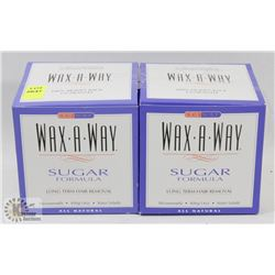 LOT OF WAX-A-WAY LONG TERM HAIR REMOVER.
