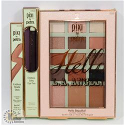 PIXI BY PETRA FACE PALETTE, EYE SHADOW & EYELINER.