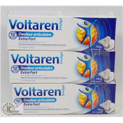 LOT OF 3 100G TUBES VOLTAREN EXTRA STRENGTH