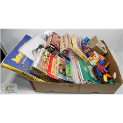 LARGE BOX OF ASSORTED GAMES AND CRAFTS