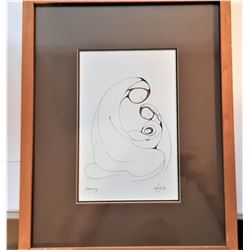 15)  FRAMED & DOUBLE MATTED UNDER GLASS