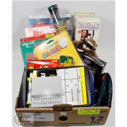 SMALL BOX OF ASSORTED GAMES AND CRAFTS